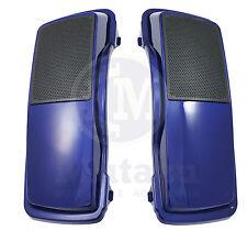 """Mutazu Cobalt Blue 6""""x9"""" Speaker Lids for Harley Davidson Touring Models"""