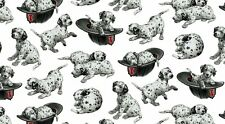 Fat Quarter Fire Rescue Dalmation Dogs on White Cotton Quilting Fabric BTR7213