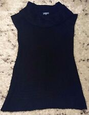 Sleeveless Knitted on/off the shoulder Bardot Goth Jumper dress by Evie Size 18