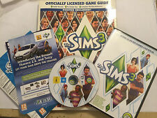 PC MAC DVD-ROM BASE GAME THE SIMS 3 III + RARE PRIMA OFFICIAL STRATEGY GUIDE