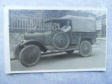 Ancienne carte postale photo teinturerie blanchisserie voiture fourgon ...