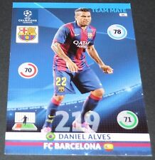 DANIEL ALVES FC BARCELONA Barça UEFA PANINI FOOTBALL CHAMPIONS LEAGUE 2014 2015
