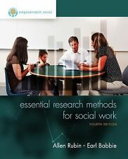Essential Research Methods for Social Work by Allen Rubin ,4th edition