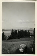 PHOTO ANCIENNE - VINTAGE SNAPSHOT - ABSTRAIT VOITURE PHARE LAC ANNECY - CAR 1938