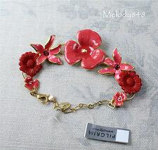 Pulsera de la flor de oro vintage danés peregrino Rosa Floral delicadeza Swarovski BNWT