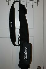 Titleist Pencil Carry Sunday Bag Light Black NWOT