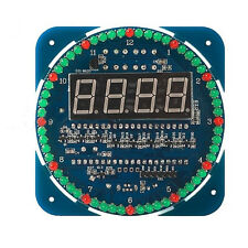 DIY DS1302 Rotating LED Electronic Digital Clock Kit 51 SCM Learning Board 5V kN