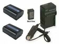 Two Batteries +Charger for Sony HDRXR150E HDR-XR350 HDRXR350 DCRSX45RE DCRSX45SE