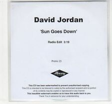 (EC714) David Jordan, Sun Goes Down - DJ CD