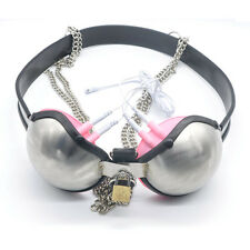 NEW Chastity Belt Stainless Steel Bra female/Male Chastity Controlled Toys A189