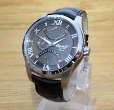 Mens Chrome Ingersoll Quartz Burlington Charcoal Retrograde Date Watch INQ017