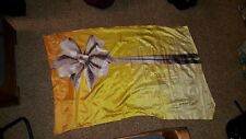 Yellow and white gift standard size colorguard flag
