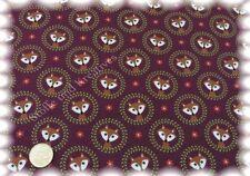 Fox ornement en coton-stretch-Jersey Bourgogne rouge 50 cm shirt tissu HILCO substances