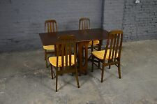 Retro Vintage Mid Century Jentique Dining Table and Four Chairs Danish Style