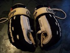 VINTAGE RAWLINGS 14-1/2 ADULT HOCKEY GLOVES OLDER STYLE,NICE PALMS GREAT SHAPE