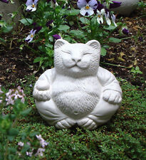 CAT Buddha ZEN Garden Art Statue Stone Figurine Sculpture by Tyber Katz
