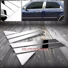 Chrome Stainless Steel Side Doors Pillar Post Trim For Chrysler 05-10 300/Magnum