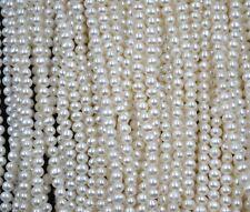 AA++ Wholesale 10 strands 3.5-4mm potato genuine freshwater pearl lots