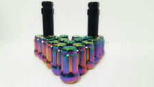 "23 Jeep Neo Chrome 6 Spline Lug Nuts 1/2""-20 Fits Most Jeep Vehicles + 2 Keys"