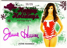 2013 BENCHWARMER HOLIDAY AUTO: JAIME HAMMER #16/25 AUTOGRAPH PLAYBOY/PENTHOUSE