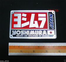 Aluminum Yoshimura japan Plate Emblems Logo pipe bikes Exhaust Motorcycle decal