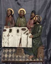 "Original Antique sculpture ""Lord's supper"" 18-19 century"