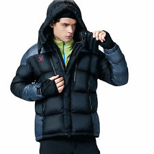 Fuerza Mens Winter Limited Edition White Duck Down Parka Jacket - Black - Medium