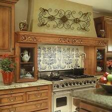 FRENCH TUSCAN ITALIAN Artisan Scroll MEDITERRANEAN STYLE WALL GRILLE PANEL