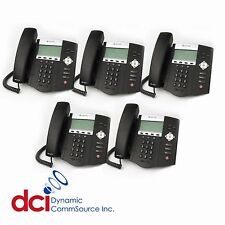 Refurbished 5 Pack of Polycom SoundPoint IP 450 Telephones PoE *FREE SHIPPING