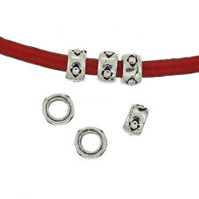 10 Antiqued Bali Sterling Silver Rondelle Heishi Spacer Beads 3.5mm #99112