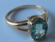 BEAUTIFUL 18K YELLOW GOLD PARAIBA TOURMALINE RING 1.69CT COPPER BEARING.