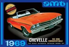 AMT 1969 Chevy Chevelle SS-396 Convertible 1:25 Scale Model Kit  NEW