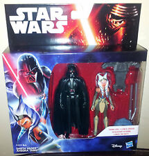 STAR Wars Darth Vader + Ahsoka tano la forza SCALDA ACTION FIGURE 2 Pack NUOVO