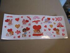 vintage 80's Hallmark Hugga Bunch Valentine sticker sheet (free ship $20 min)