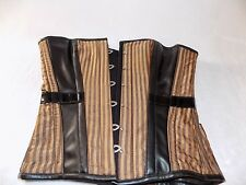Leather and striped designed Corset ...Heavy Red size medium