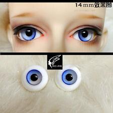 14mm Gradual Blue Eyeballs For BJD AOD DOD Doll Dollfie Glass Eyes Outfit