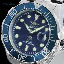 Invicta Mens 47mm Grand Diver Blue Dial Automatic Stainless Steel Bracelet Watch