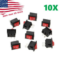 2x  MINI SPSTON//OFF 8x13mm Power Rocker Switch 3V-4.5V-6V-9V-12V-110V-240V KCD11
