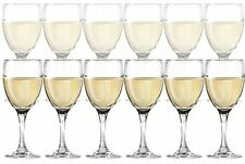 "Set of 12 Dailyware Glass Stemware White Wine Glasses 10.25 oz. 7.87"" H NEW"