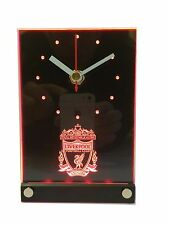 Liverpool FC LFC LED Light Up 3D Effect Desk Clock Football Fan Gift - Christmas