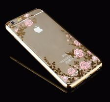 ROSE ORO Bling Glitter STACCABILE E ULTRA sottile gel morbido caso TPU per iPhone 6 6s
