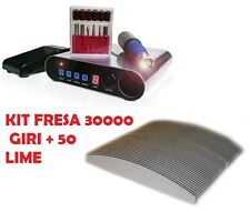 FRESA UNGHIA PROFESSIONALE DISPLAY DIGITALE ESTETISTA NAIL 30000 giri + 50 LIME