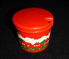 Portazucchero rosso ceramica tema natalizio