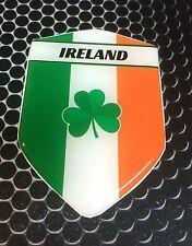 "Ireland Irish Proud Shield Flag Domed Decal Emblem Car Sticker 3D 2.3""x 3.3"""