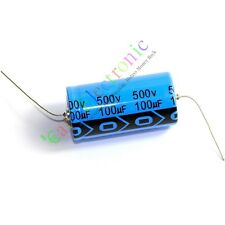 1pc 500V 100uf 85C New long copper leads Axial Electrolytic Capacitor audio amps