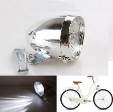 Deluxe Retro Bicycle Bike Accessory Vintage 3LED Headlight Front Light Bracket