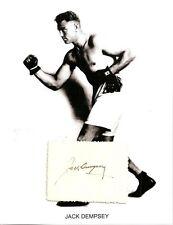 Jack Dempsey Autograph Boxing World Champion