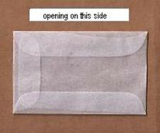 "100 #1 Glassine stamp Envelopes 1 3/4"" x 2 7/8"" Westvaco Cenveo JBM storage bag"