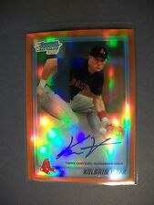 KOLBRIN VITEK 2010 Bowman Chrome Draft Orange Refractor AUTO #'d/25 RC Red Sox