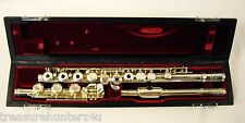 JUPITER 711R-II STERLING SILVER FLUTE OPEN HOLE OFFSET G LOW B FANTASTIC